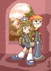 ron and hermione by lpspalmer
