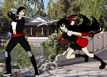 Akame vs Katana by RedPegasus237