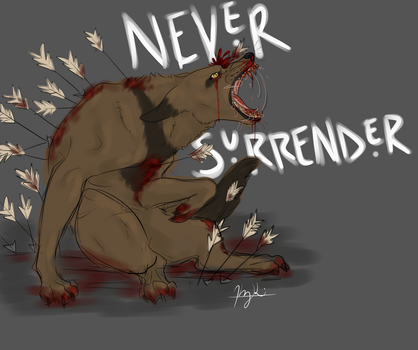 NEVER SURRENDER by ItsPainter