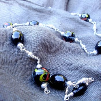 Black Midnight Necklace by Milliebead