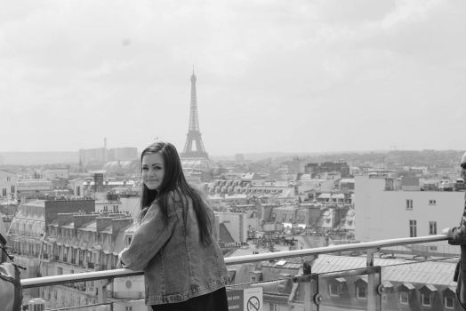 Paris from up top by SxyButBits