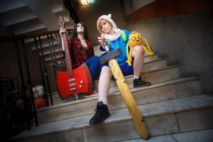 Adventure Time: Finn and Marceline by anna-wind-cosplay