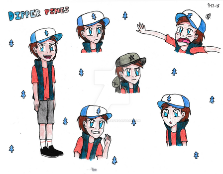 Dipper Pines by MusicalCupcake
