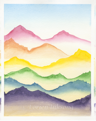Rainbow Mountains by LorienInksong