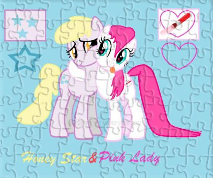 Pink Lady with Honey Star pluzzle by mershe