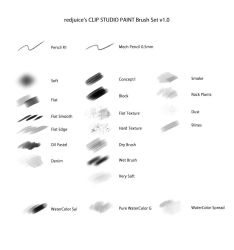 redjuice's Brush Set for CLIP STUDIO PAINT by redjuice999