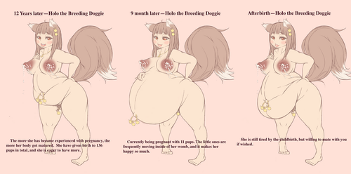 Holo the Pregnant Wolf and Unstoppable Maturity by hhml