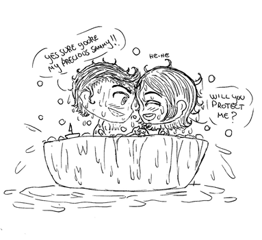 Supernatural: Bath time!! by Milky-Nya