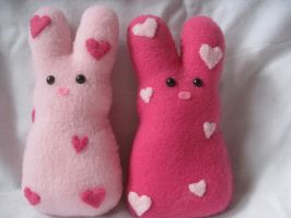 LoveBunz plush peeps by P-isfor-Plushes