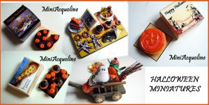New Halloween miniatures by miniacquoline