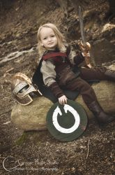 Eowyn Cosplay - 3 year old Audrey by Jbressi