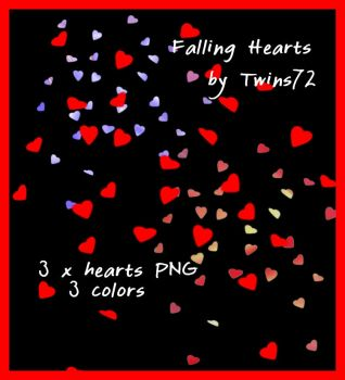 Stock Falling Hearts by Twins72