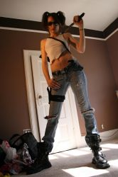 Shelly Zombie Hunter Stock 7 by KINGZOMBIE-STOCK