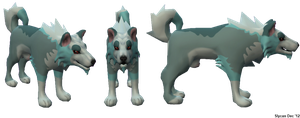 A Wolf Dog with red eyes NPC/Pet/Prey Model by Some-Art