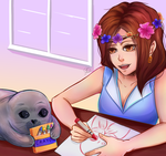 [Request] Baby Seal Princess by ScribblesByJosie