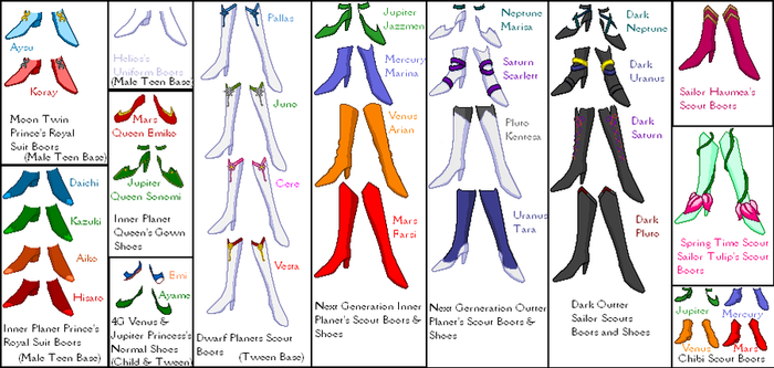 SSMU Shoes and Boots by SailorMoonParadise