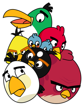 Pile of Angry Birds by Gav-Imp