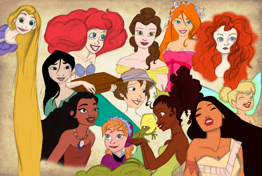 Disney Ladies by CoffeeOtter