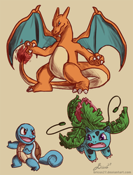 Pokemon doodles by Bricus27