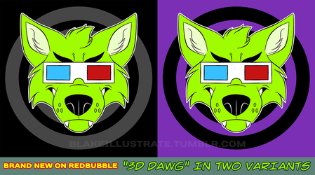 New 3D Dawg Shirt Design! by blake-illustrate