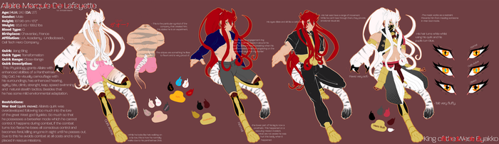 ||OC||Allaire Marquis de Lafayette |New BNHA Sheet by CountlessCatastrophe