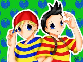 Lucas and Ness by anime-dragon-tamer
