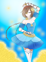 Dancetale Frisk  (Collab with CNeko-chan) by TashaShazali