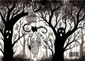 Inktober Day27 - Moaning Forest by Geminine-nyan
