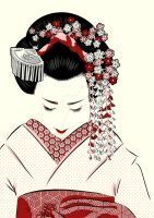 Flower Maiko by iammadkat