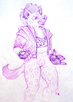 Kateena the Hyena by fralea