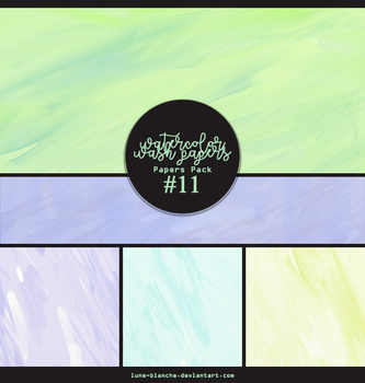 Papers pack #11 - watercolor wash papers by lune-blanche