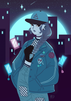 WITCHY ART CHALLENGE - Day 19 - Urban Witch by Vicky-Pandora