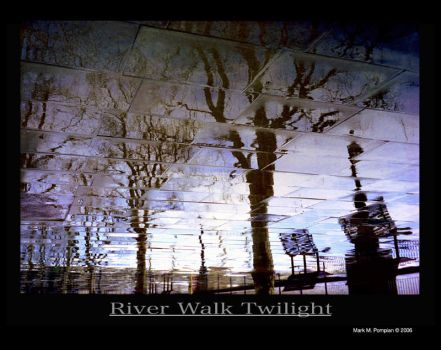 River Walk Twilight by opticnerver