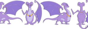 Purple dragon design by jaunty-eyepatch