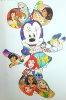 Minnie Mouse and Friends by squiggleypuff