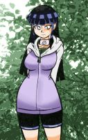 002 Hinata in the woods by mangapym