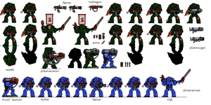 Warhammer 40k Space Marines Pixel Antohammer Made  by antohammer
