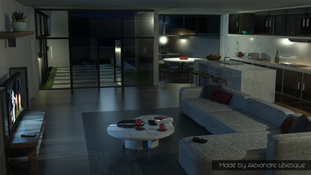 3D interior design by HappyWasabii