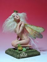 Spoiled Gold Dragonfly Princess OOAK Sculpture by bornbrightdolls