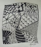 Zentangle in Black and White by Aljuna