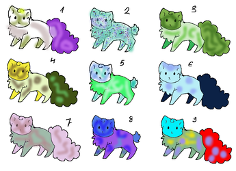 Feline Kitty Adopts - each 4Points by CathFreaky