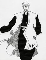 Gin Ichimaru from Bleach (manga) by Acey-kakarot-michael