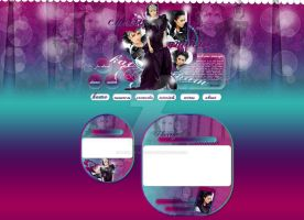 Cherry Universe's newest layout with Kat Graham by BrielleFantasy
