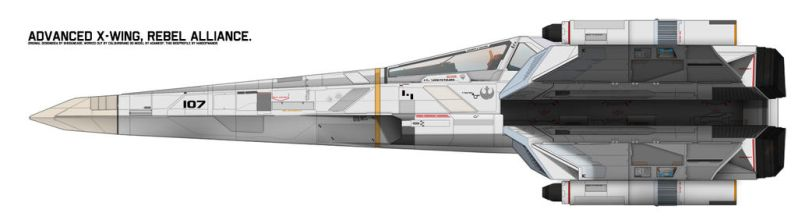 Incom/Frei-Tek T-89 X-Wing Ultra sideview by Shoguneagle