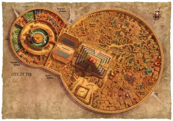 Dark Sun Poster Side 2 - City of Tyr by dangercook