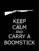 Keep Calm n Carry a Boomstick by WildeGeeks