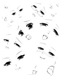expressions and mouths by forgotten-wings
