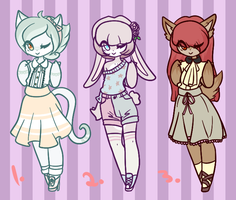 Adoptable Batch #10 (CLOSED) by Attack-On-Adopts