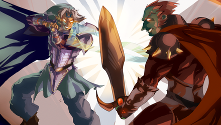 Super Fierce Deity Link Vs. Ganondorf by daremaker