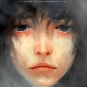 Face in the Mirror by yuumei